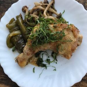 アメリカ的節約和食ごはん*骨付き鶏もも肉の照り焼き