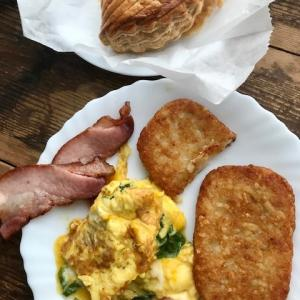 秋鮭のお料理いろいろ*週末朝ごはんは、夫作アメリカン(苦笑)