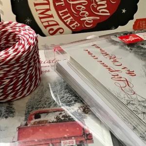IKEAで買った紐を使ってクリスマスカード作り+小トラのその後