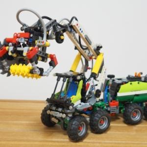 ★大型農機レゴ・森林ハーベスター買いました!~LEGO 42080 ニューマチックシステム&パワーファンクション
