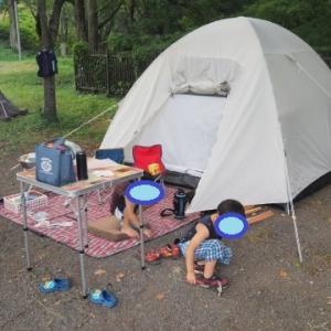 ★家族でテントで初キャンプ!~藤野芸術の家(神奈川県相模原市)・2020年夏休み