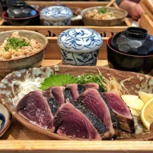 大阪でお昼から美味しいカツオの藁焼き食べれるとは