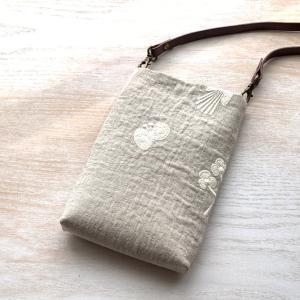 スマホ入れに、縫わないミニバッグ