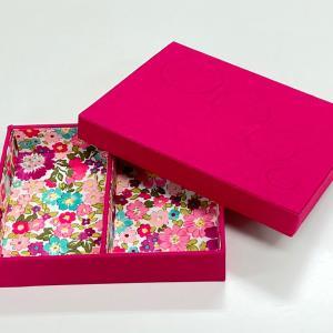 カードや名刺入れに、仕切り付きの箱