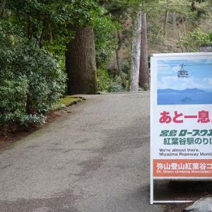 宮島の最高峰に登る!<冬の旅:2日目②>