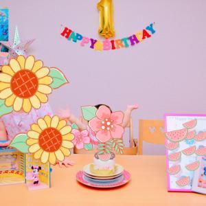 息子くん1歳の誕生日おめでとう( *´艸`)☆