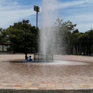 玉島の森の噴水広場