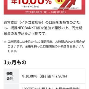 NEOBANK金利10%の罠にはまる。3か月後には、合計25,000円にも!