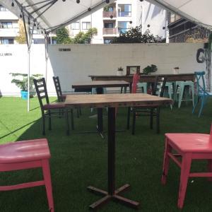 オープンカフェで浄化