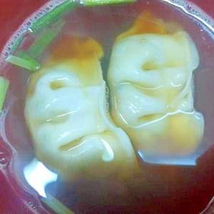 冷凍餃子小ねぎのスープ/あごだし