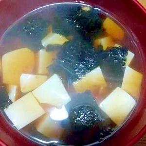 絹豆腐の赤海苔汁/豆板醤味付け海苔