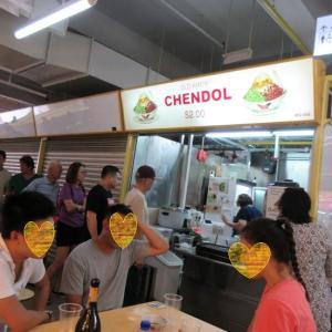 Old Amoy Chendol シメのチェンドルがまた大盛りで…(;'∀')