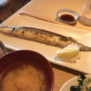 秋刀魚やっと食べた!@さち福やCAFE(橋本)