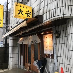 納豆ラーメン@らぁめん大安 大雨の日のブランチ