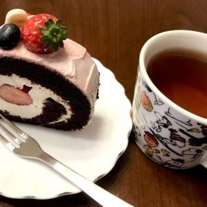 コクテル堂*苺チョコロールケーキ