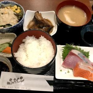 銀ダラカマ煮と刺し身三点定食@ふらんこ(立川)