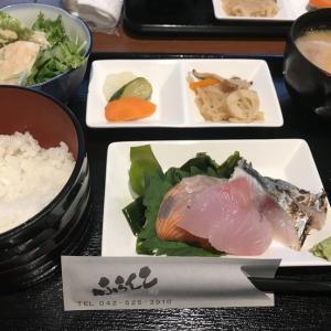 お刺身とアジフライの定食@ふらんこ(立川)