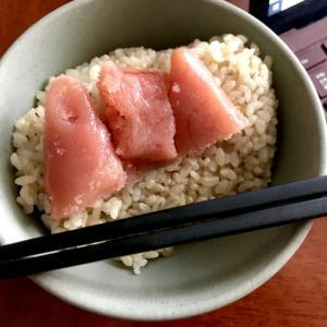 タラコと玄米ごはん