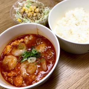 エビチリ定食をテイクアウト@松屋(立川)