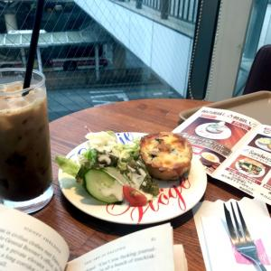ベーコンと立川野菜のキッシュモーニング@キャフェクリムト(立川)