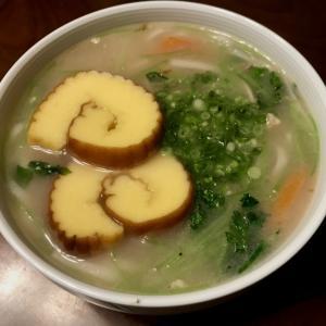 煮詰まったお雑煮スープ&糖質0g麺
