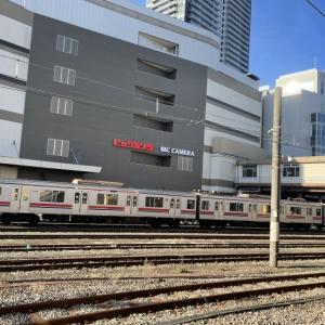 八王子駅の東急車両(2/10朝)