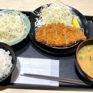ロースかつ定食+豚汁変更 @ 「松のや」がいつの間にか…??