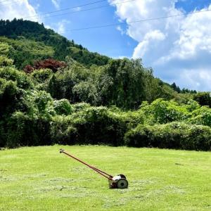 芝刈り終了♪ もう虫の音が聴こえる…。