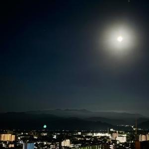 真夜中のお月見♪