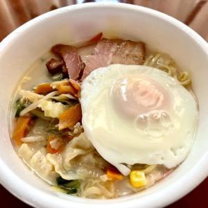 ロカボカップ麺でおひる。