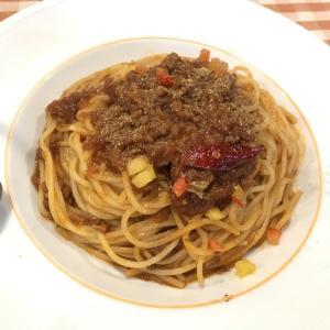 今日もランチはスパゲティ。でも後輩女子と♪