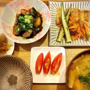 あっさりサッパリ♪    鮭の南蛮漬け 定食、とオリンピックとニッターと。
