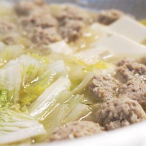 創味シャンタンで作る肉団子と白菜と春雨のスープ鍋