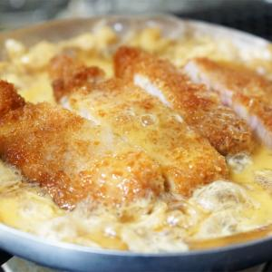 玉子がトロトロで美味しい基本のカツ丼