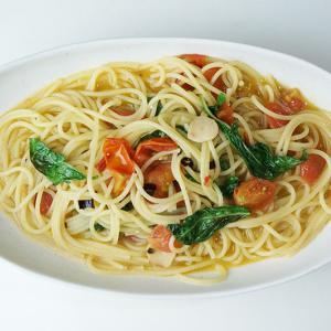 『ミニトマトとバジルのペペロンチーノ』 簡単!美味しい!彩りよし!