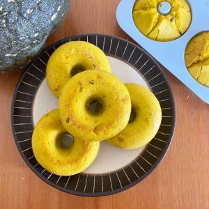 【レシピ】米粉でグルテンフリーかぼちゃ焼きドーナツ
