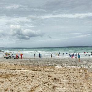 寒い、寒すぎる なのにビーチ