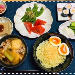 今日の夜ごはん☆肉汁つけ麺