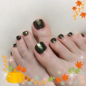 秋色♡フットネイル