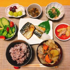 夜ごはん☆秋の具だくさん豚汁&焼き鯖