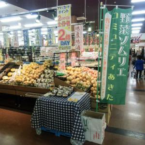 スーパーセンターアマノ御所野店さんで秋田県産野菜のPRを行いました