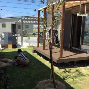 米原市E様邸ガーデン(庭)工事