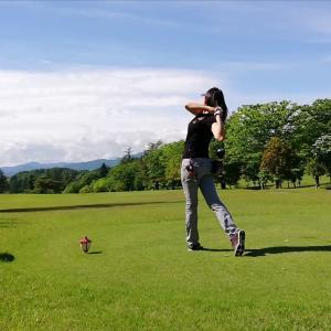 今日はゴルフでした!