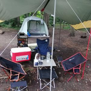 ゴルフ後のキャンプで美味しいキャンプ飯をいただきました。