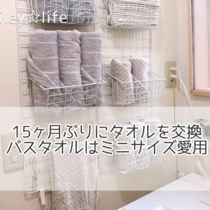 15ヶ月ぶりにタオルを交換 バスタオルはミニサイズ愛用