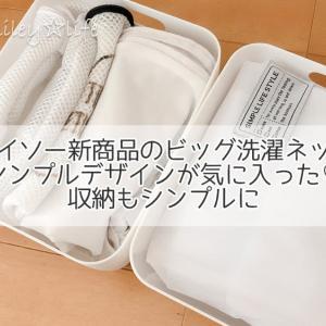 ダイソー新商品のビッグ洗濯ネット シンプルデザインが気に入った♡  収納もシンプルに