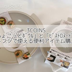 3COINS「ちょこっとボウル」と「ビストロヌードル」レンジで使える便利アイテム購入