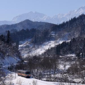 冬晴れの大糸線