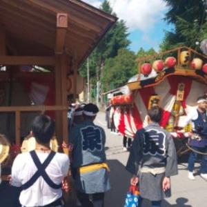 鹿沼秋祭り「ぶっつけ奉告祭」
