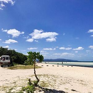 島一番の人気ビーチ。